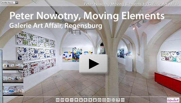 Panorama Ausstellung Moving Elements von Peter Nowotny